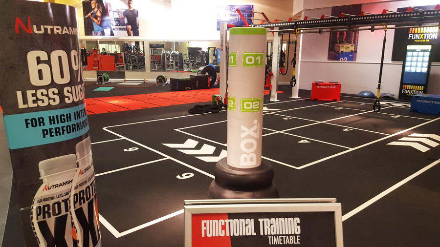 Functional markings at DW Fitness Clubs